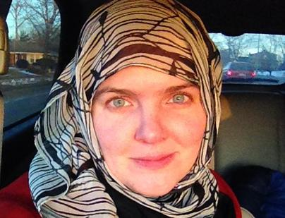 Christian woman wears Muslim head scarf for Lent