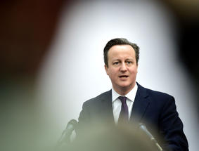 David Cameron giving a speech - Copyright Action Press / REX