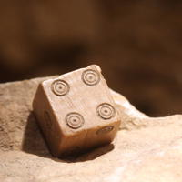 Roman Dice Close Up - On display at Vidy Roman Museum